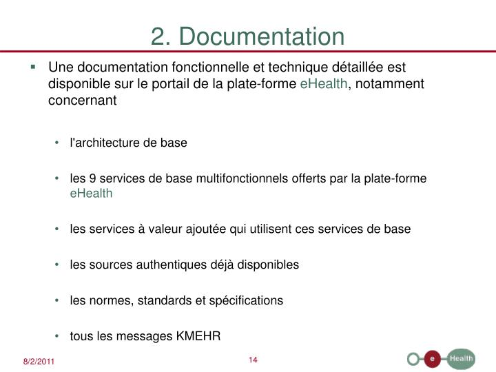 2. Documentation