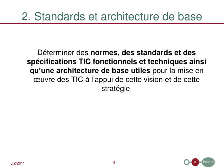 2. Standards et architecture de base