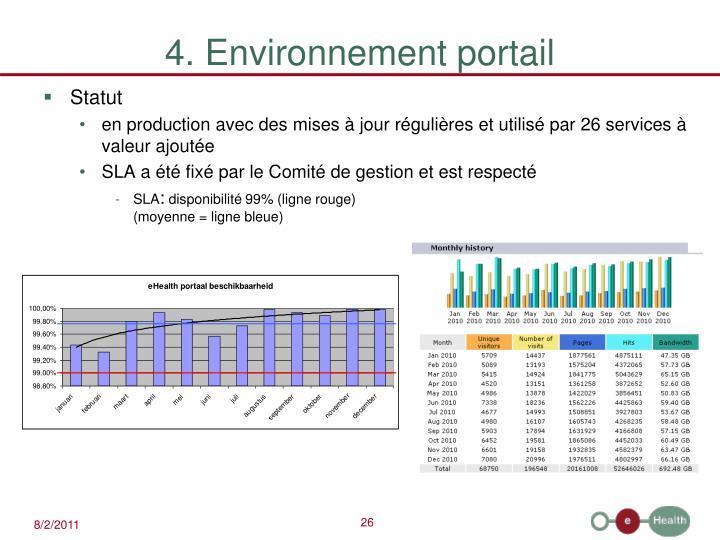 4. Environnement portail