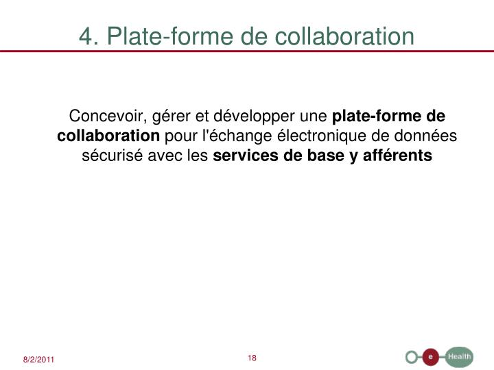 4. Plate-forme de collaboration