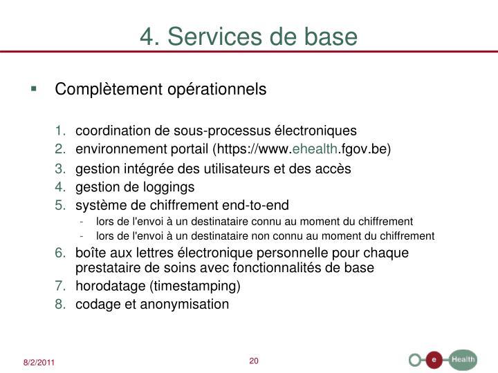 4. Services de base