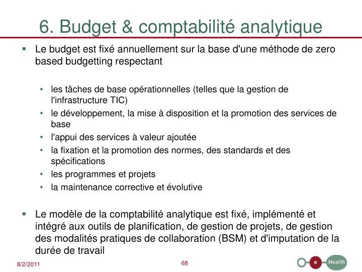 6. Budget & comptabilité analytique