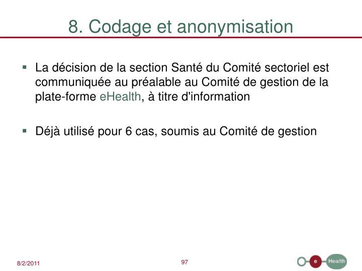 8. Codage et anonymisation