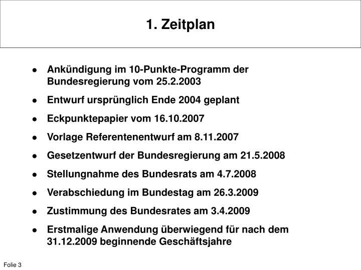 1. Zeitplan