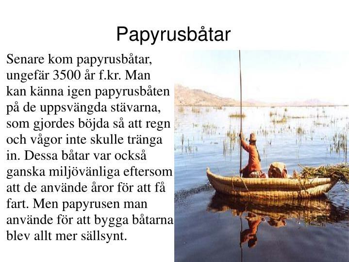 Papyrusbåtar