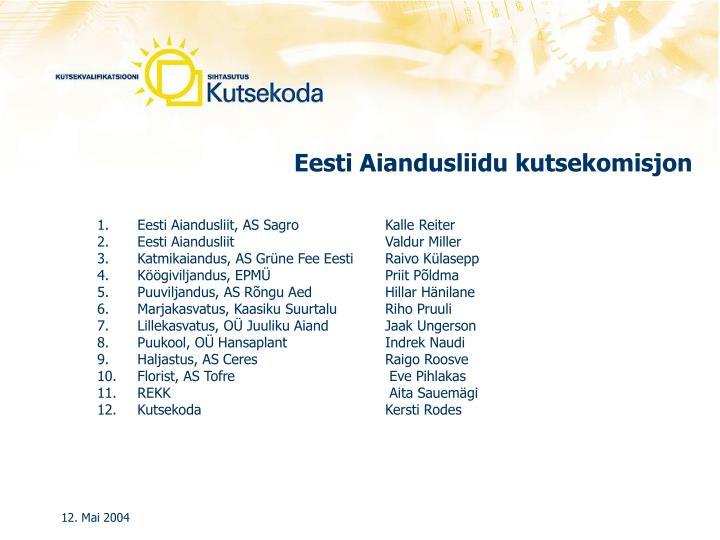 Eesti Aiandusliidu kutsekomisjon