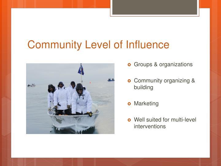 Community Level of Influence