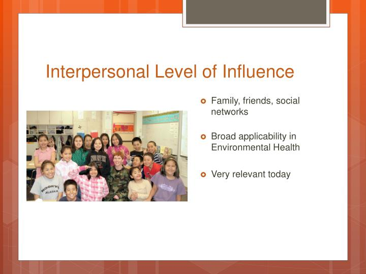 Interpersonal Level of Influence