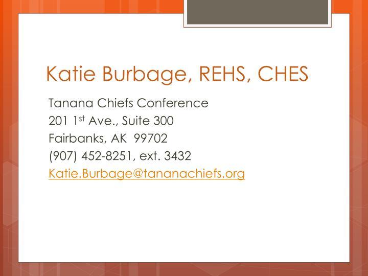 Katie Burbage, REHS, CHES