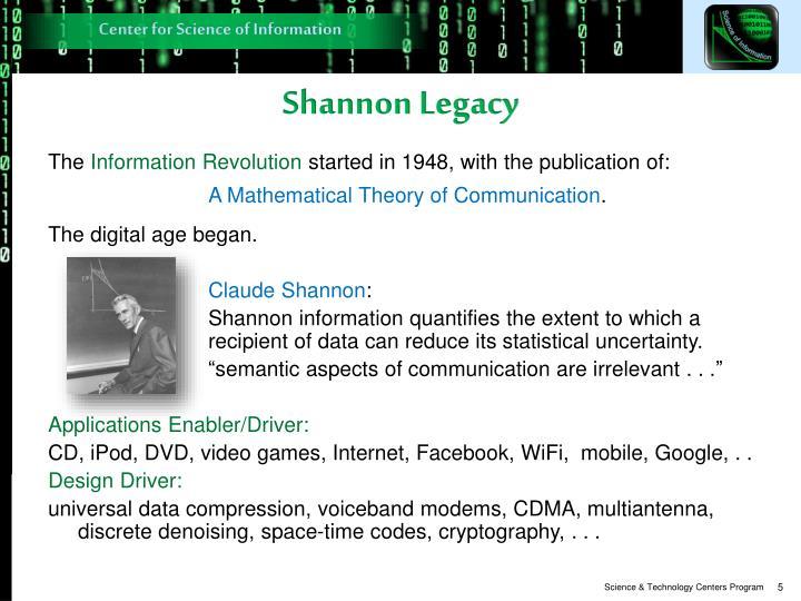 Shannon Legacy