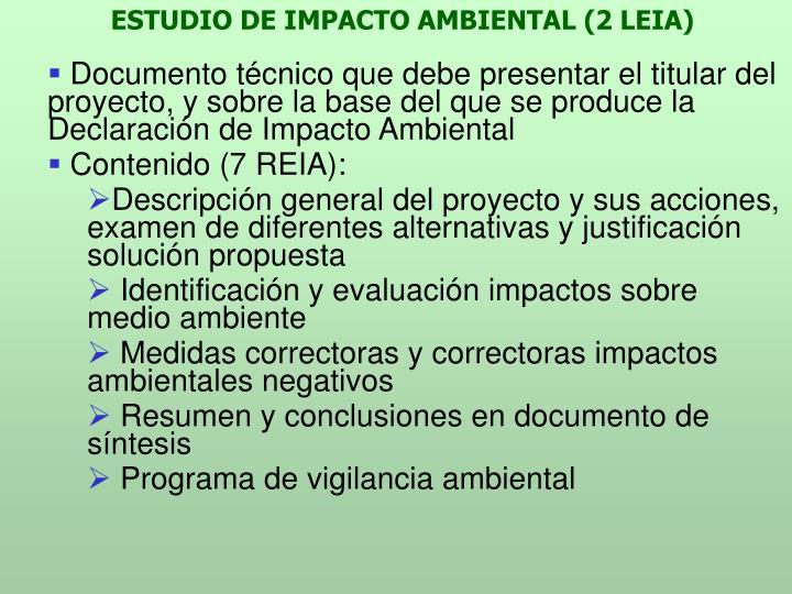 ESTUDIO DE IMPACTO AMBIENTAL (2 LEIA)
