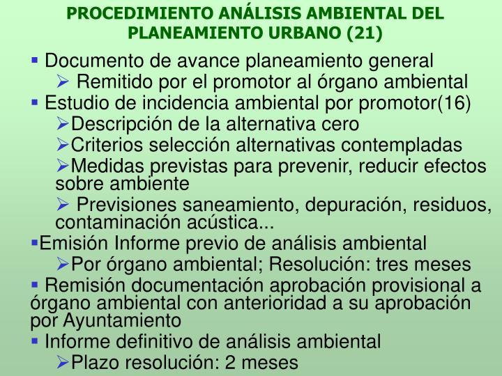 PROCEDIMIENTO ANÁLISIS AMBIENTAL DEL PLANEAMIENTO URBANO (21)