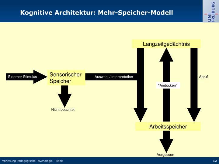 Kognitive Architektur: Mehr-Speicher-Modell