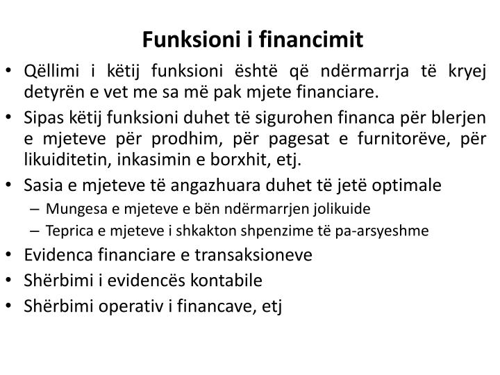 Funksioni i financimit