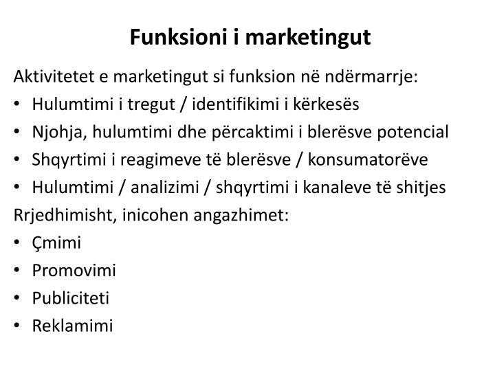 Funksioni i marketingut