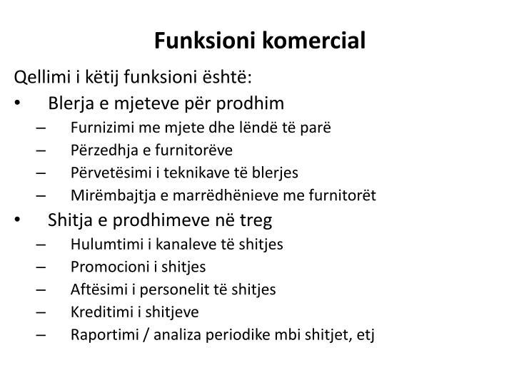Funksioni komercial