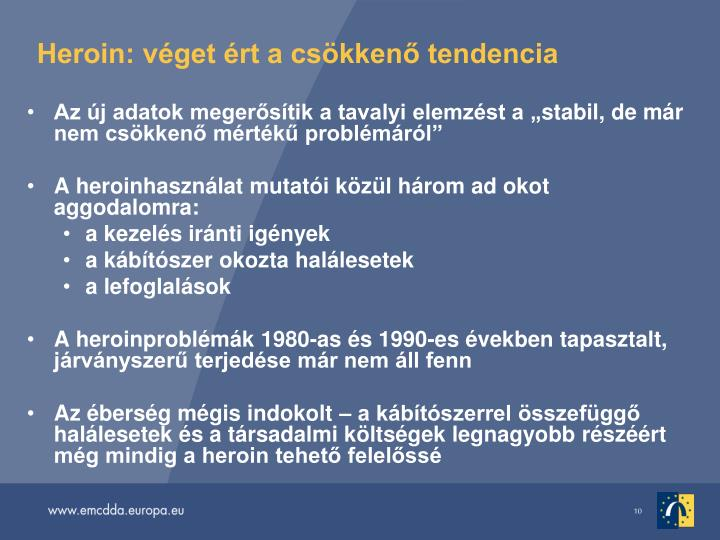 Heroin: vget rt a cskken tendencia