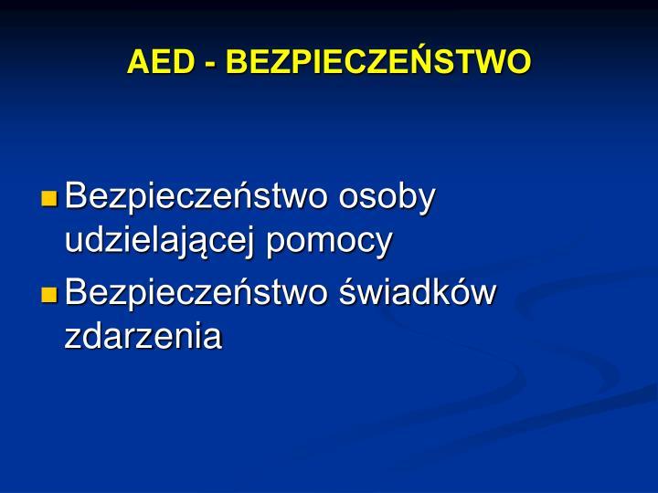AED - BEZPIECZEŃSTWO