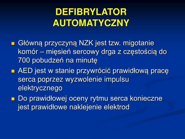 DEFIBRYLATOR AUTOMATYCZNY