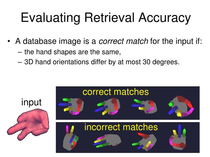 Evaluating Retrieval Accuracy