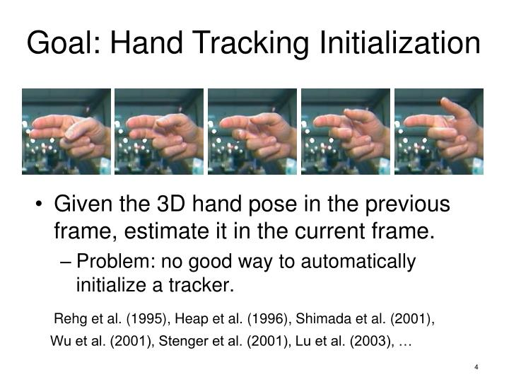 Given the 3D hand pose in the previous frame, estimate it in the current frame.