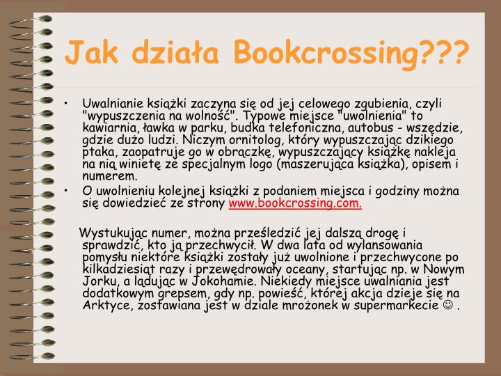 Jak działa Bookcrossing???