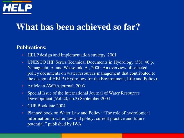 Publications: