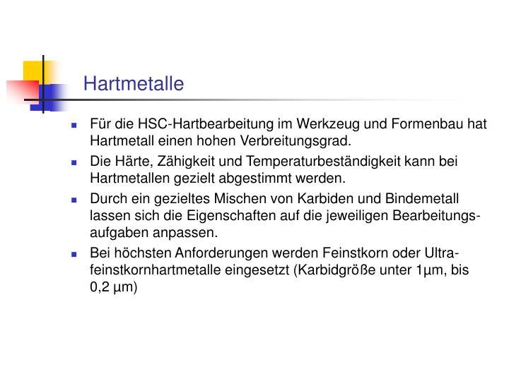 Hartmetalle