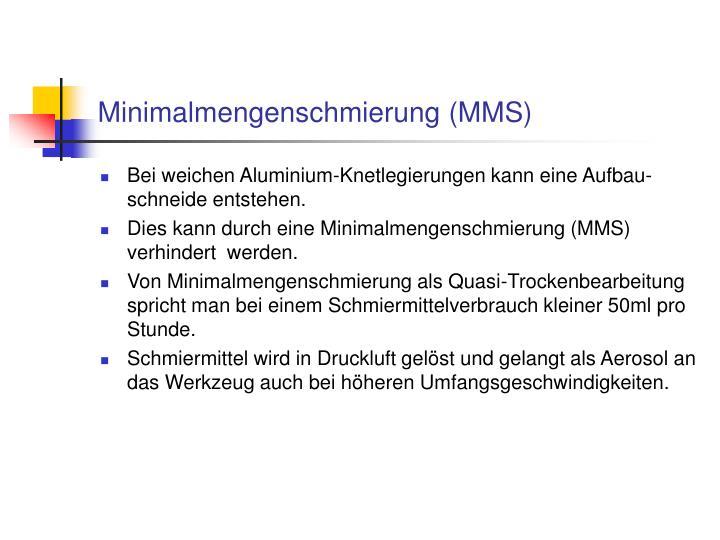 Minimalmengenschmierung (MMS)