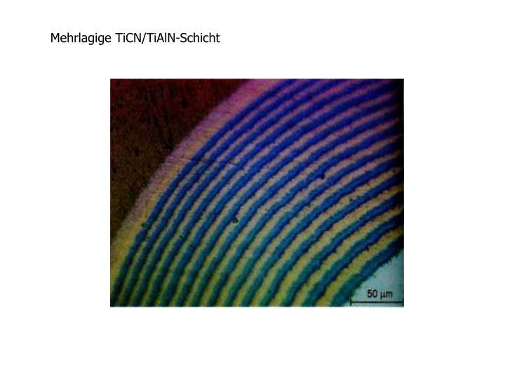 Mehrlagige TiCN/TiAlN-Schicht