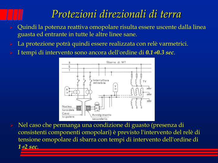 Protezioni direzionali di terra