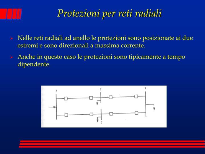 Protezioni per reti radiali