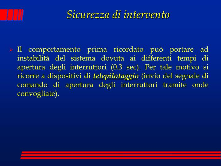 Sicurezza di intervento