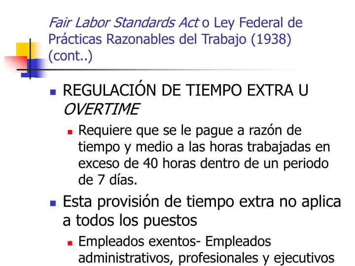Fair Labor Standards Act