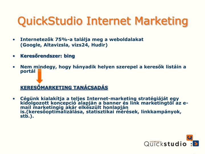Quickstudio internet marketing