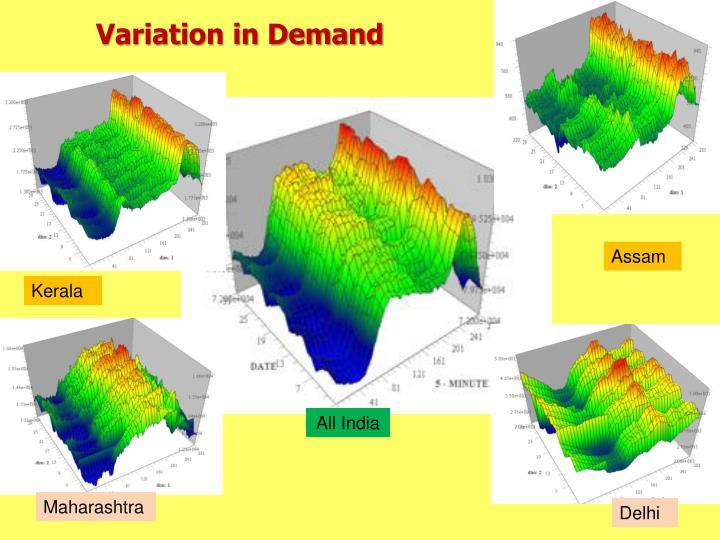 Variation in Demand