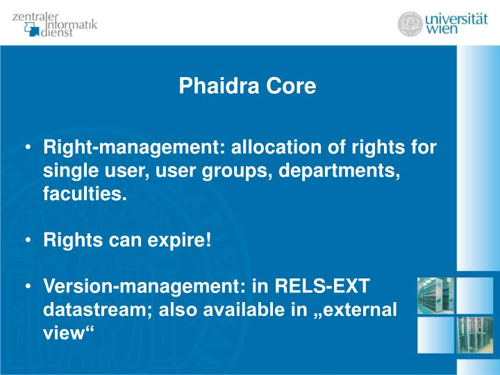 Phaidra Core