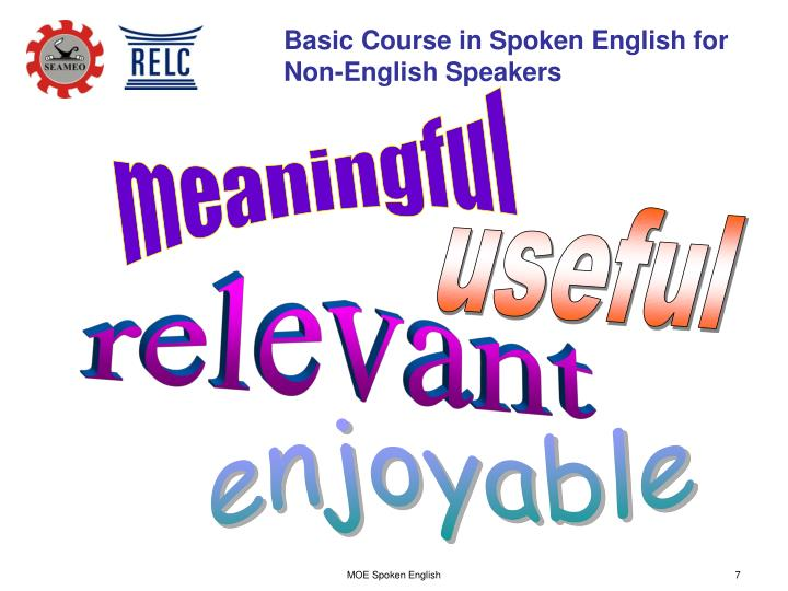 Basic Course in Spoken English for