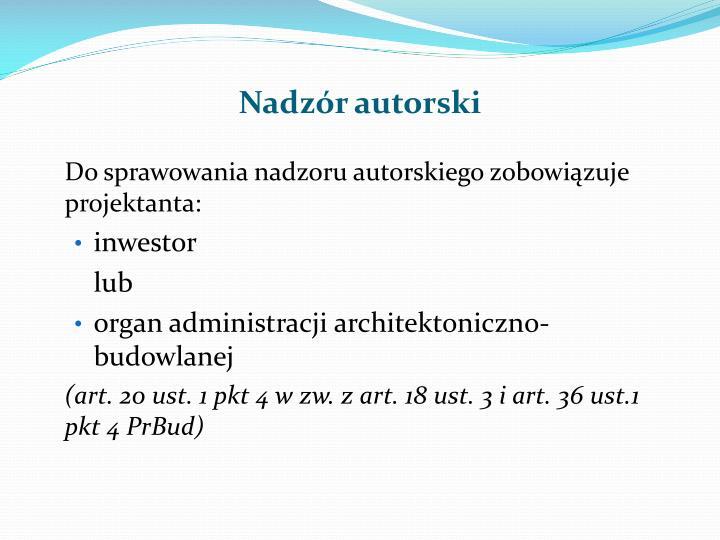 Nadzór autorski
