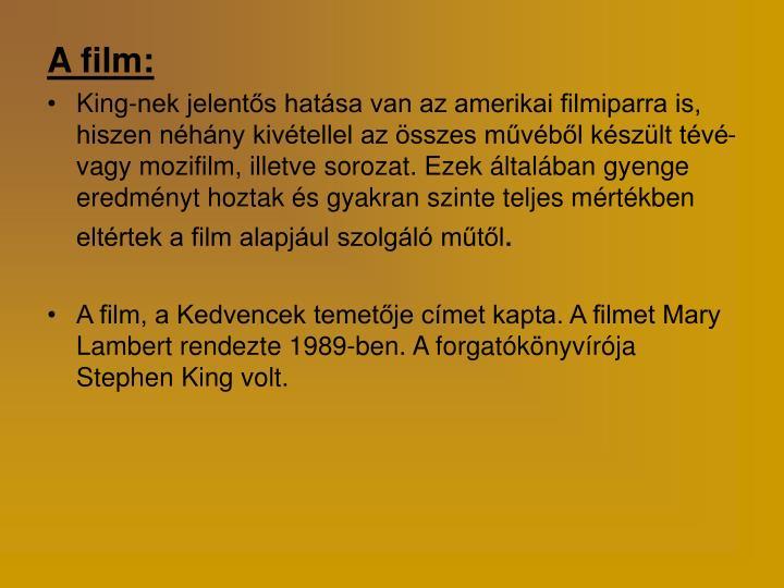 A film: