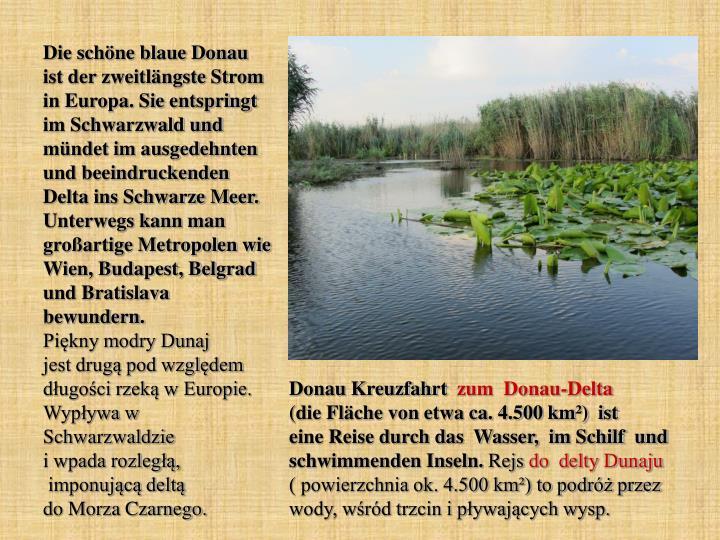 Die schöne blaue Donau