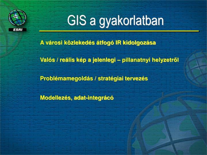 GIS a gyakorlatban