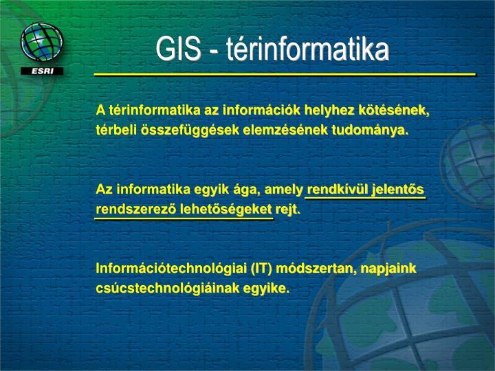 GIS - térinformatika
