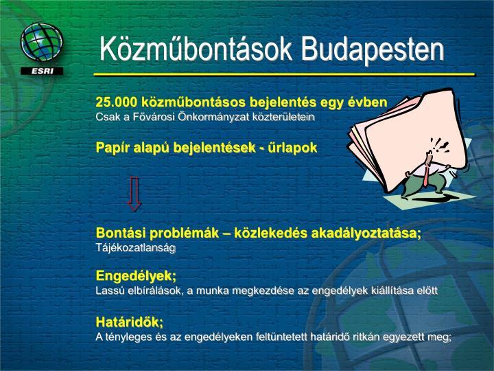 Közműbontások Budapesten