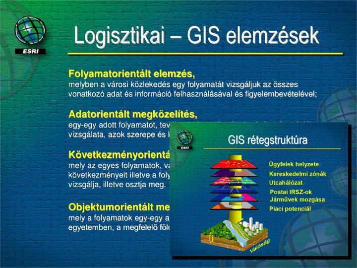 Logisztikai – GIS elemzések