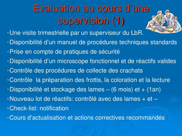 Evaluation au cours d'une supervision (1)