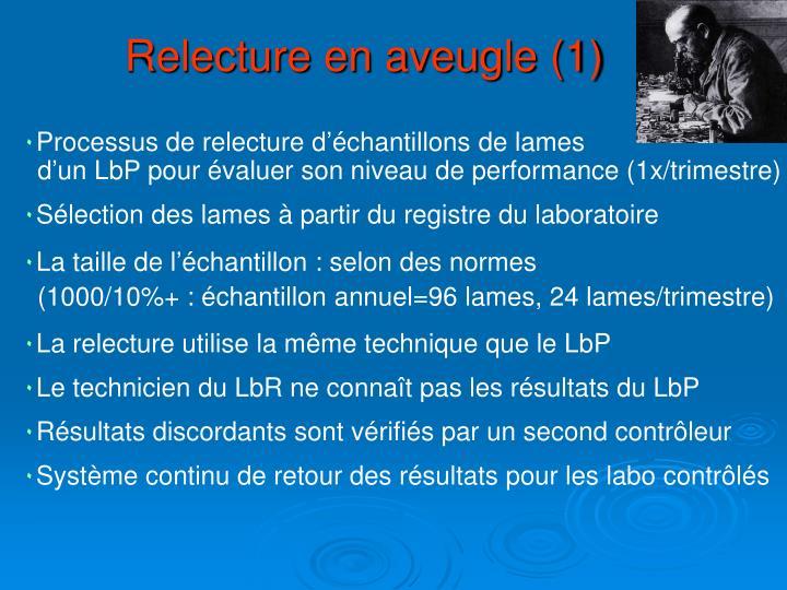 Relecture en aveugle (1)