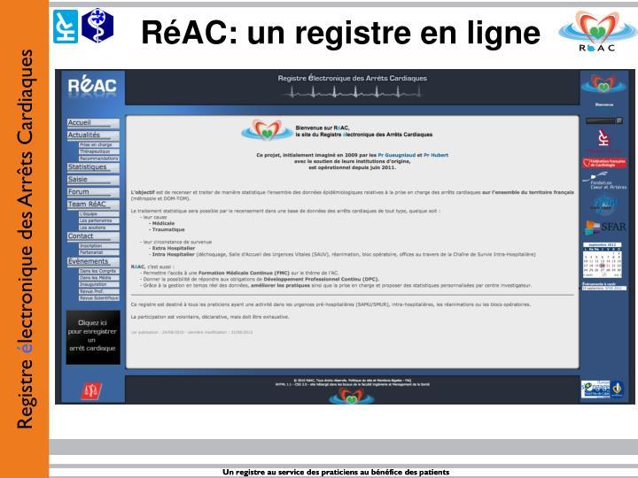 RéAC: un registre en ligne