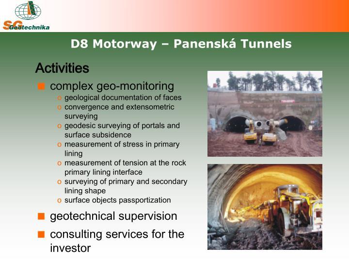 D8 Motorway – Panenská Tunnels