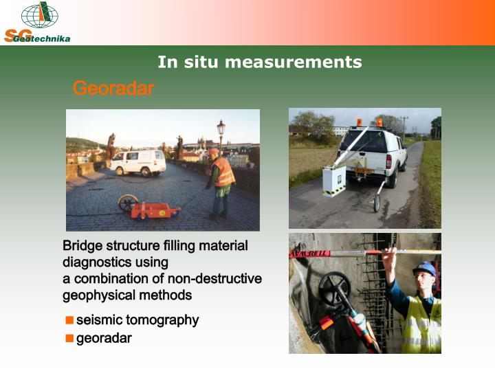 In situ measurements